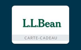 Carte-cadeau L.L.Bean de50 $